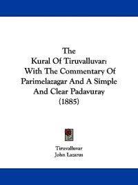 The Kural of Tiruvalluvar