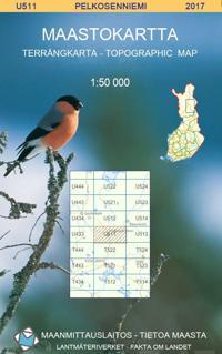 Maastokartta U511 Pelkosenniemi 1:50 000