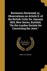 REVIEWERS REVIEWED OR OBSERVAT