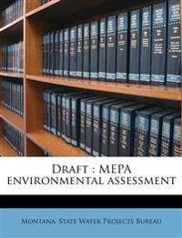 Draft : MEPA environmental assessment