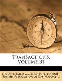 Transactions, Volume 31