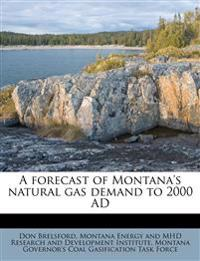 A forecast of Montana's natural gas demand to 2000 AD