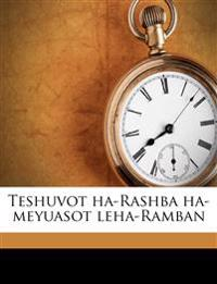 Teshuvot ha-Rashba ha-meyuasot leha-Ramban