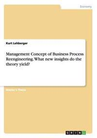 Management Concept of Business Process Reengineering. What new insights does the theory yield?