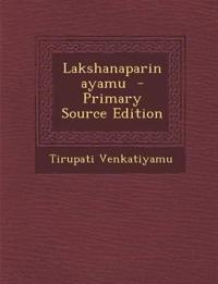 Lakshanaparinayamu
