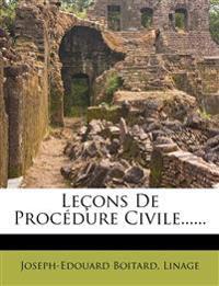 Leçons De Procédure Civile......