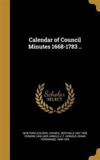 CAL OF COUNCIL MINUTES 1668-17
