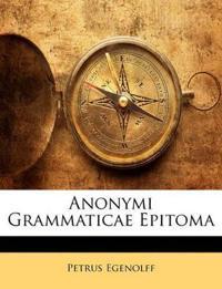 Anonymi Grammaticae Epitoma
