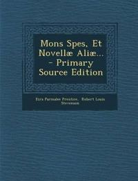 Mons Spes, Et Novellæ Aliæ...
