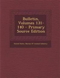 Bulletin, Volumes 131-140