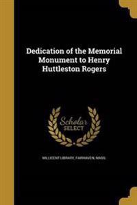 DEDICATION OF THE MEMORIAL MON