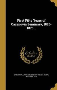 1ST 50 YEARS OF CAZENOVIA SEMI