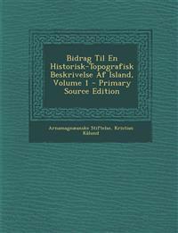 Bidrag Til En Historisk-Topografisk Beskrivelse Af Island, Volume 1 - Primary Source Edition