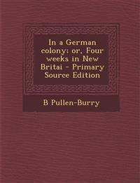 In a German Colony; Or, Four Weeks in New Britai