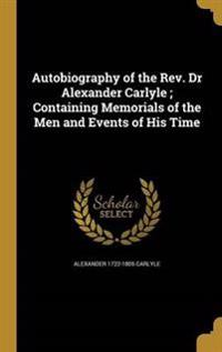 AUTOBIOG OF THE REV DR ALEXAND