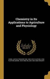 CHEMISTRY IN ITS APPLICATIONS