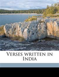 Verses written in India