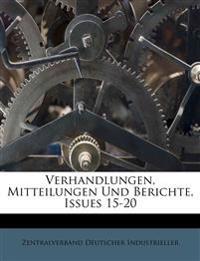 Verhandlungen, Mitteilungen Und Berichte, Issues 15-20