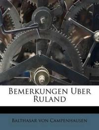 Bemerkungen Uber Ruland