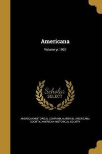 AMERICANA VOLUME YR1920
