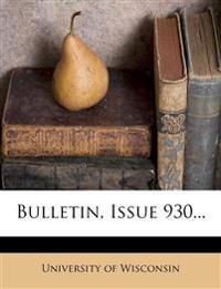 Bulletin, Issue 930...