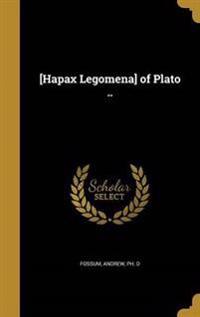 HAPAX LEGOMENA OF PLATO