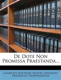 de Dote Non Promissa Praestanda...