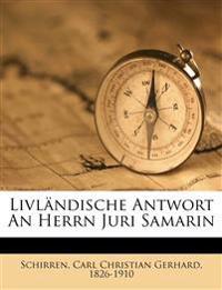 Livländische Antwort an Herrn Juri Samarin. Dritte Auflage.