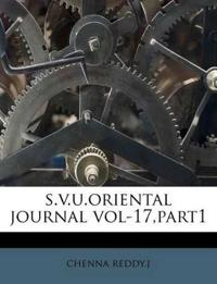 s.v.u.oriental journal vol-17,part1