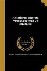 GRC-HISTORIARUM EXCERPTA VATIC