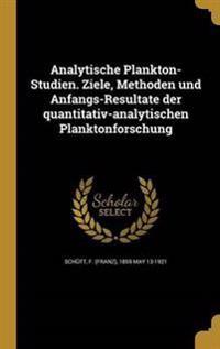 GER-ANALYTISCHE PLANKTON-STUDI