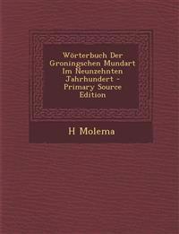 Worterbuch Der Groningschen Mundart Im Neunzehnten Jahrhundert - Primary Source Edition