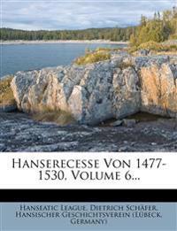 Hanserecesse, Dritte Abtheilung, Sechster Band