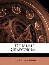 de Mimis Graecorum...
