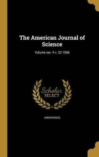 AMER JOURNAL OF SCIENCE VOLUME