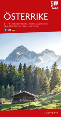 Österrike EasyMap : Skala 1:300.000