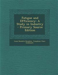 Fatigue and Efficiency: A Study in Industry - Primary Source Edition