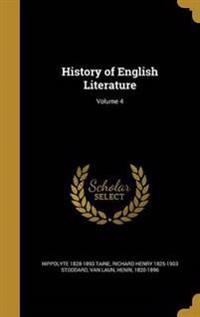 HIST OF ENGLISH LITERATURE V04
