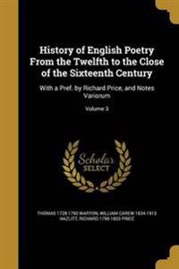 HIST OF ENGLISH POETRY FROM TH