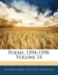 Poems, 1594-1598, Volume 14
