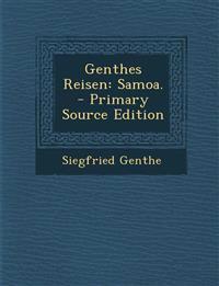 Genthes Reisen: Samoa. - Primary Source Edition