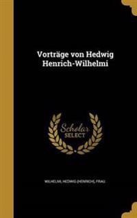 GER-VORTRAGE VON HEDWIG HENRIC