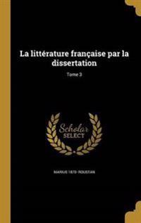FRE-LITTERATURE FRANCAISE PAR
