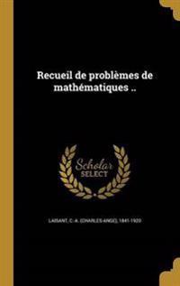 FRE-RECUEIL DE PROBLEMES DE MA