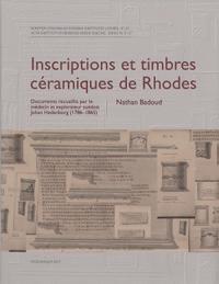 Inscriptions et timbres céramiques de Rhodes
