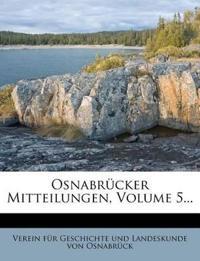 Osnabrücker Mitteilungen, Volume 5...