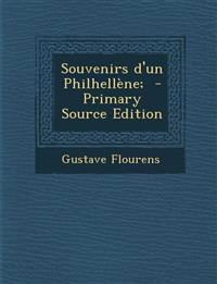 Souvenirs D'Un Philhellene; - Primary Source Edition