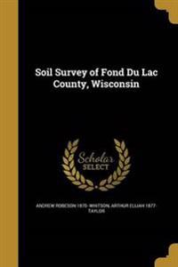SOIL SURVEY OF FOND DU LAC COU
