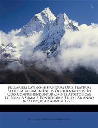 Bullarium Latino-hispanicum Ord. Fratrum Bethlemitarum In Indiis Occidentalibus: In Quo Comprehenduntur Omnes Apostolicae Litterae A Summis Pontificib