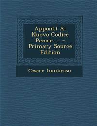 Appunti Al Nuovo Codice Penale ...